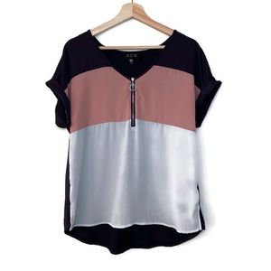 AUW Color Block Blouse